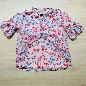 LEE COOPER Floral Blouse with Camisole Pink Size M